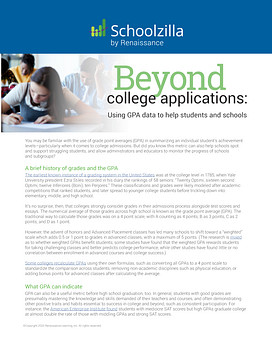 Beyond College Applications