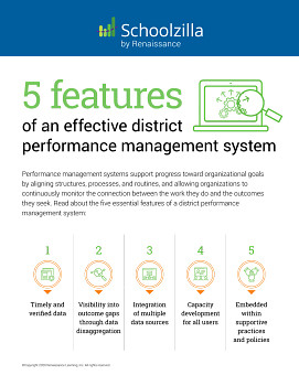 5 Features of an Effective District Performance Management System